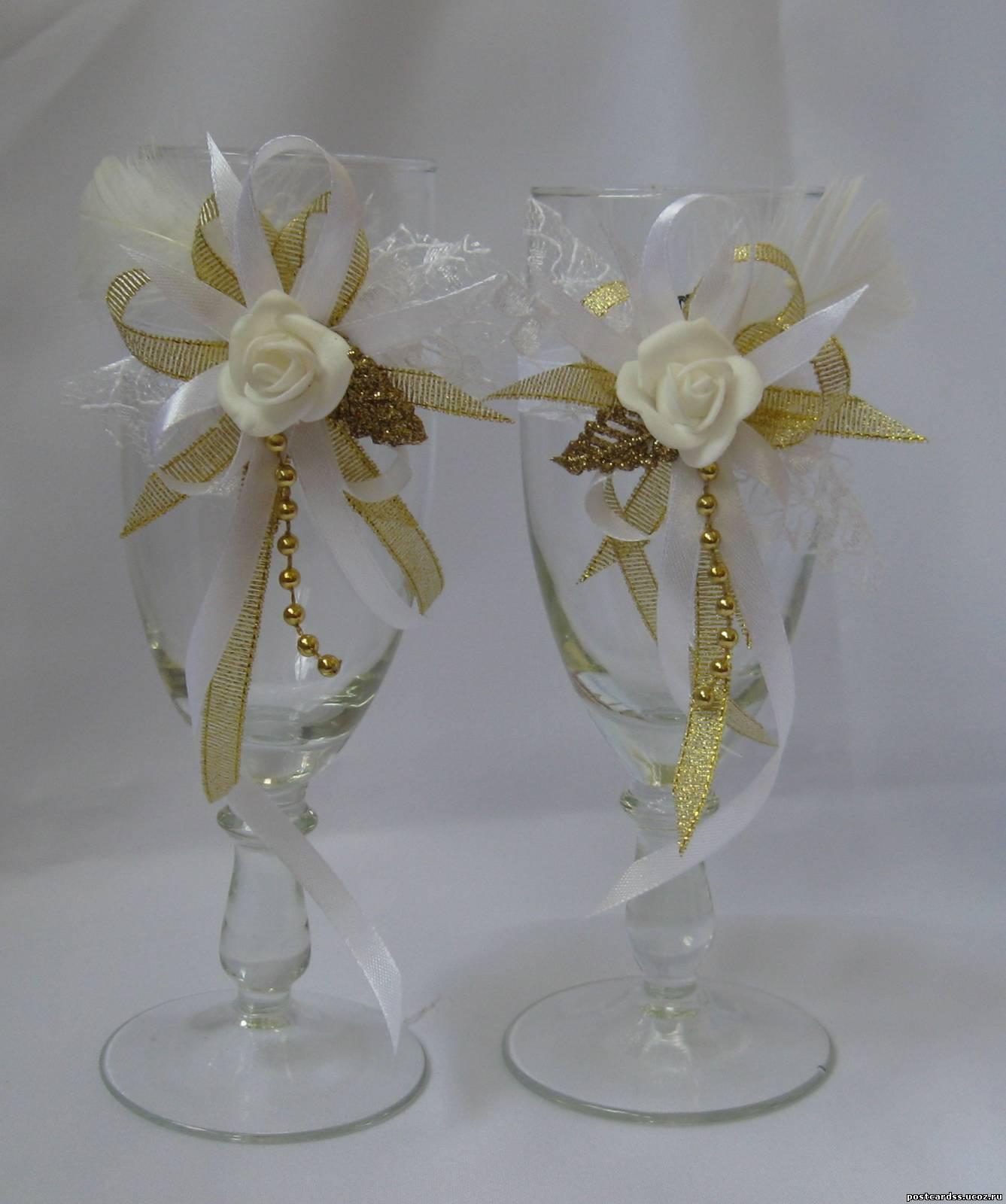 Свадебные бокалы своими руками, мастер-класс Мастера hand 66